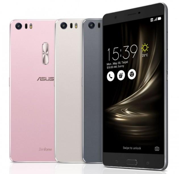 Colores de la gama ASUS Zenfone 3