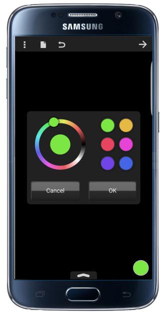 Colores de la aplicación Silk Paints