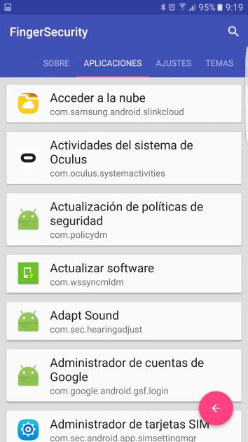 Alta de aplicaciones en FingerSecurity
