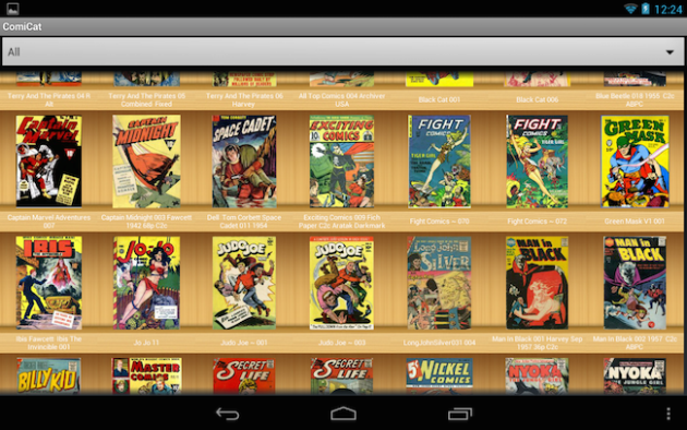 Aplicación Astonishing Comic Reader para Android