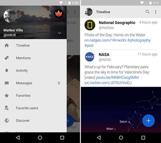 Aplicación Fenix para Android