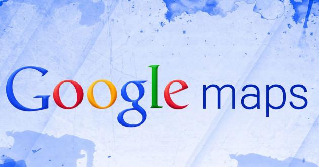 Logo Google Mapas con fondo azul