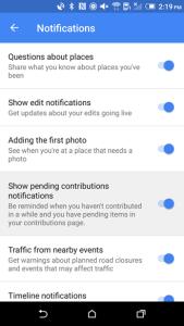 Notificaciones de prueba en Google Maps