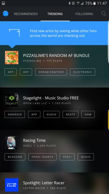 Interfaz de la aplicación BitTorrent Now