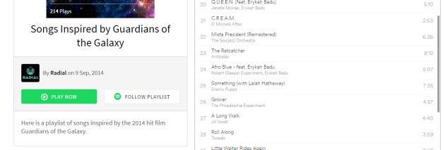 Compartir lista de reproducción en Spotify