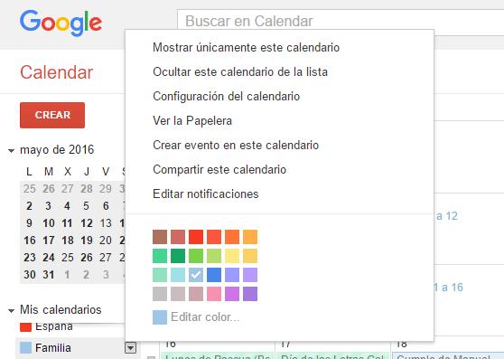 Cómo compartir tu calendario de Google