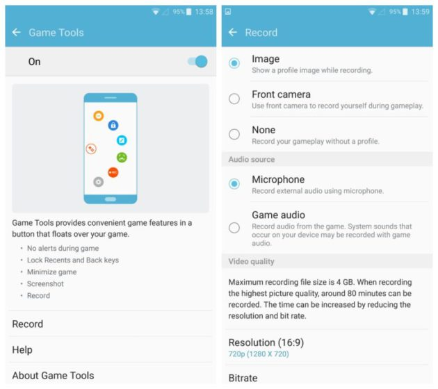 Interfaz de Game Launcher del Samsung Galaxy S7