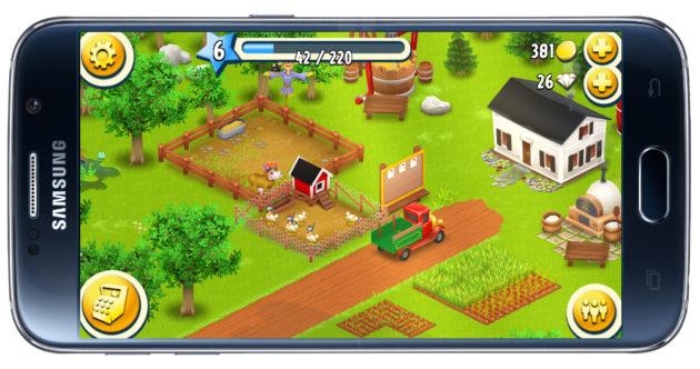 Interfaz del juego Hay Day