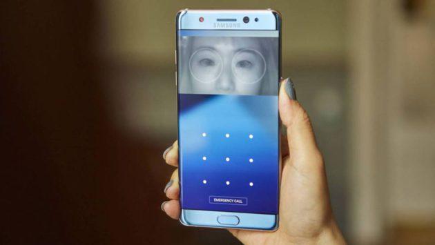 Reconocimiento de iris del Samsung Galaxy Note 7