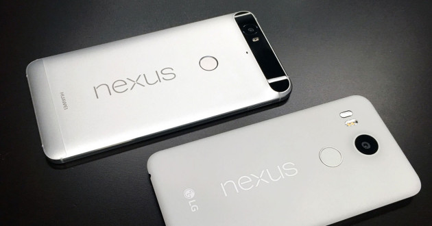 Trasera del Nexus 5X y el Nexus 6P
