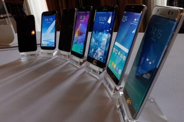 Imagen frontal del Samsung Galaxy Note 7