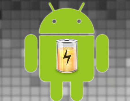 Logotipo de Android con batería
