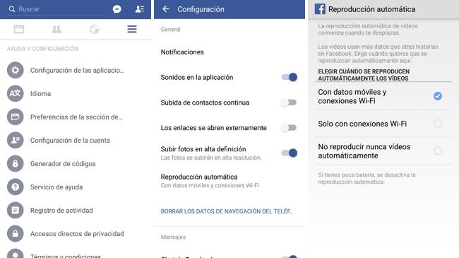 Facebook Reproducción Automatica