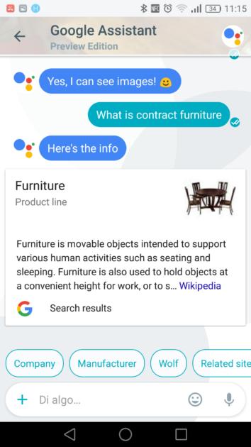 Imágenes en el asistente de Google Allo