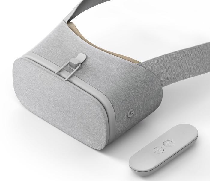 Gafas de realidad virtual Daydream View con mando a distancia de color gris claro