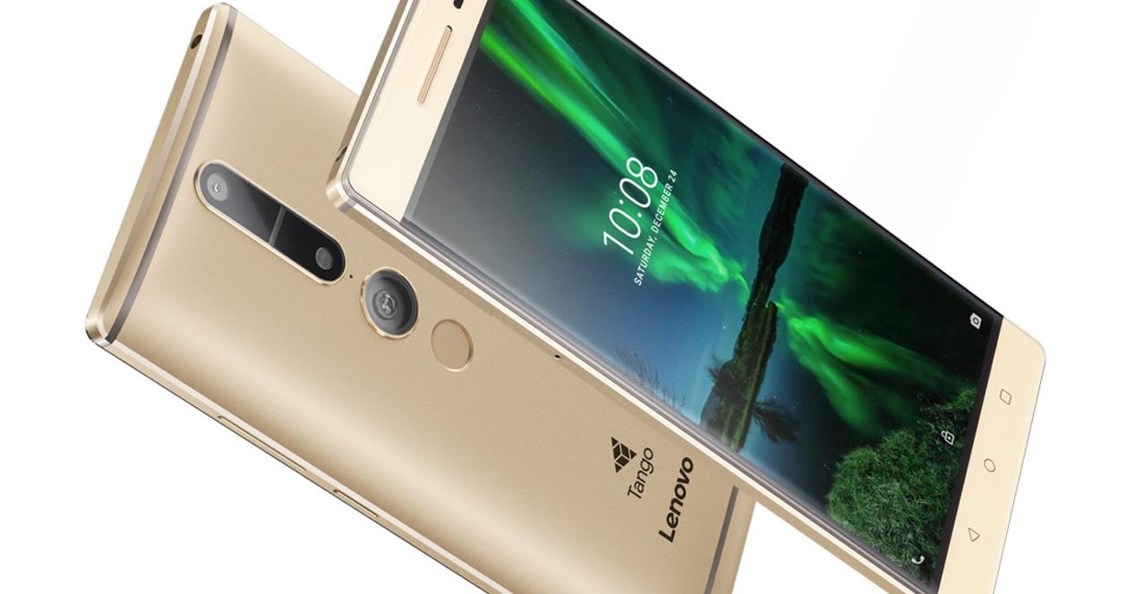 Lenovo Phab 2 Pro dorado con cámara en 3D para Google Tango
