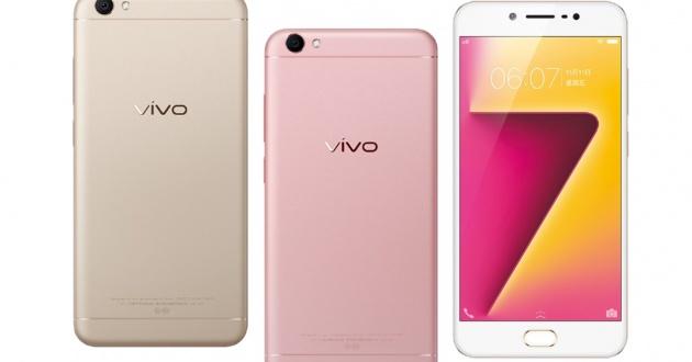 Vivo Y67 en colores oro y rosa
