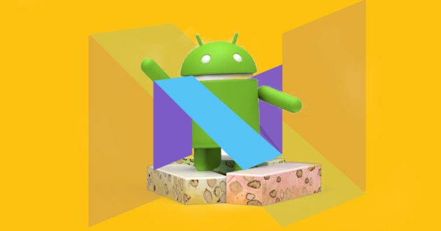 android nougat fondo amarillo
