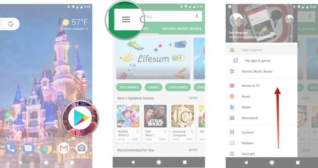 desactivar los iconos de Google Play