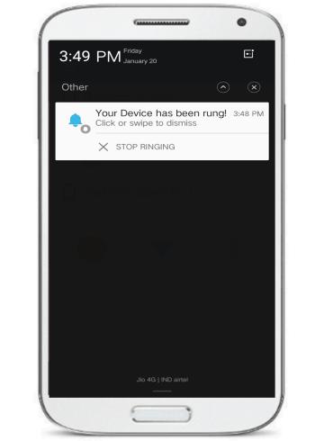 como hacer sonar un android desde otro android