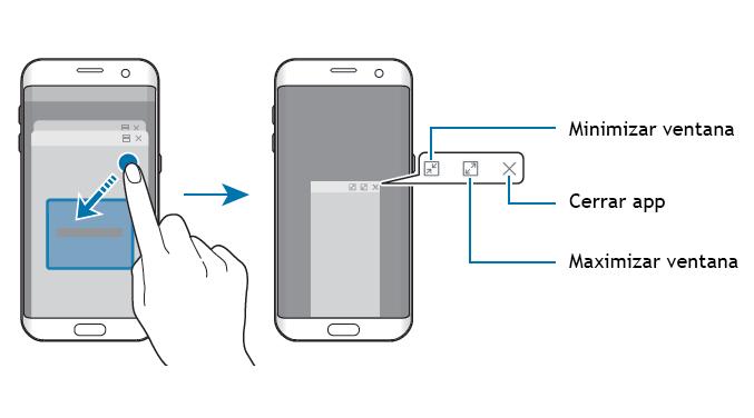 ventanas emergentes del Galaxy S7 con Nougat