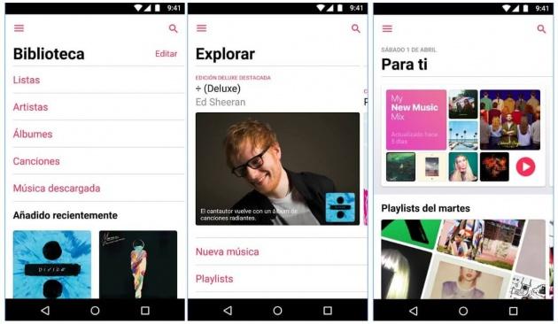 Apple Music actualiza su versión Android
