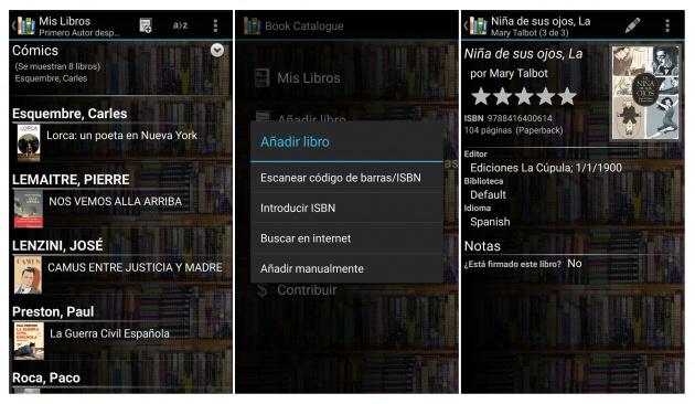 Cómo organizar tus libros con Android