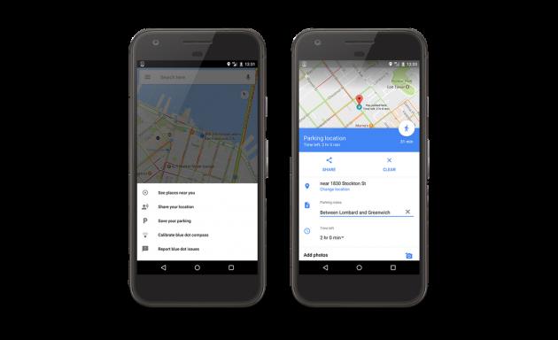 Google Maps registrar dónde aparcaste